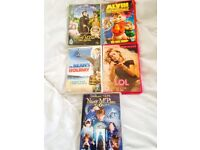 5 dvd's nanny McPhee x2 Mr bean album and the chipmunks and lol