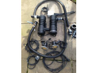 LARGE LOT of Pond Equipment -Twin UVC Units - Hozelock Vorton 27000 & Lights etc