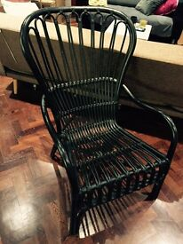 Rattan chair high back black Ikea
