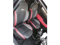 Fiat 500 S (Sport) 2015 Interior Front and Rear Seats with Door Cards 'Genuine'
