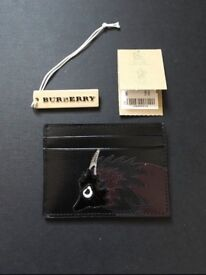 BURBERRY BEAST MORIF CARD LEATHER CASE HOLDER (new)