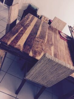 Nice Wooden Table and Chairs Brassall Ipswich City Preview