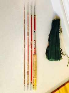 Rare LM Dickson Tempered Hollow Glass Pack Rod #129