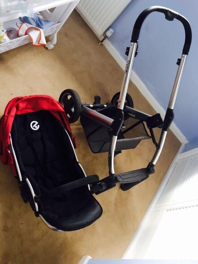 Babystyle Oyster Pushchair Incl. 2 Footmuffs, 2 Seat Paddings, Head Support & Changing Bag