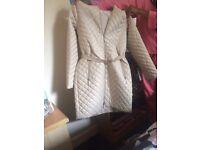 Womans Long White Coat size 8/10