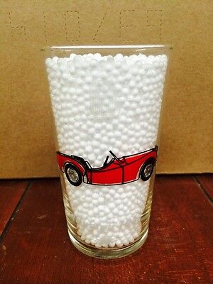 1950's MOBIL GAS OIL COLLECTOR CAR SERIES DRINKING GLASS SOCONY TRIUMPH TR3