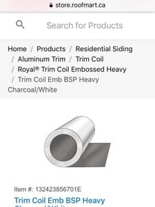 2 rolls - Trim Coil Stock Heavy Charcoal
