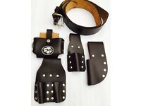 SCAFFOLDING FINE TOP QUALITY LEATHER TOOL BELT TOOLSET POUCHES UK BROWN BARGAIN
