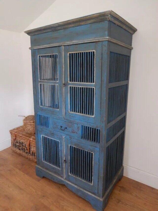 Antique vintage painted larder cupboard cabinet - Antique Vintage Painted Larder Cupboard Cabinet In Brighton, East