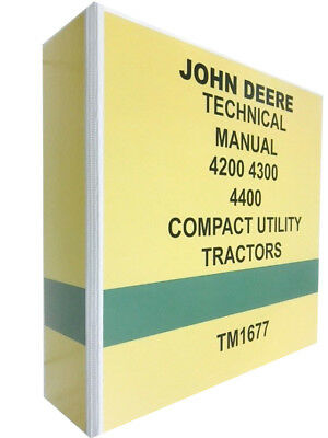 4400 John Deere Technical Service Shop Manual Repair Book 742 Pages