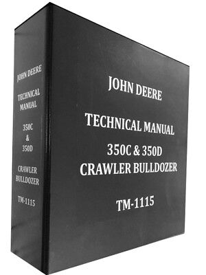 John Deere 350c Crawler Bulldozer Technical Service Repair Manual 857 Pages
