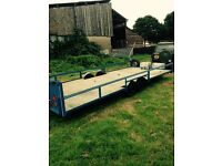 twin wheel 18ft bed car transporter trailer fully re fitted ready to transport
