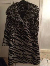 Grey and Black coat from M & S size 12 hardly worn. Excellent condition