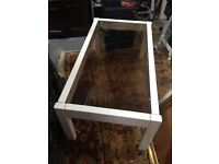 Solid wooden glass top coffee table