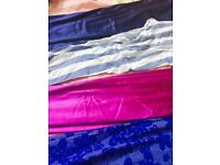 Girls tights leggings Blue and pink never used Size between 7/10