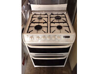White Cannon 60cm Wide Gas Cooker (Fully Working & 4 Month Warranty)