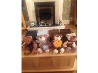 4 limited edition goldsmith the jewelers teddy bear collection