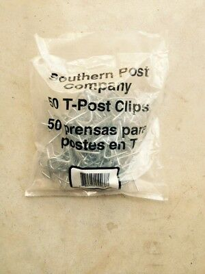 Southern Post T-post Fence Clips Two 50-pk. 100 Total Clips 2 Bags