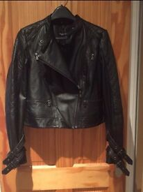 New Myleene Klass Real Leather Jacket - Size 12 (RRP £150)