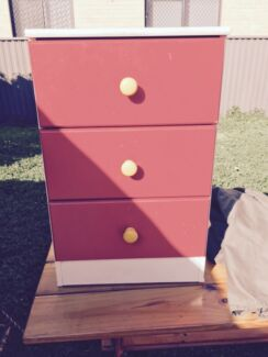 Bedside drawers red Cabramatta West Fairfield Area Preview