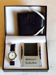 Rebecca's Collection Gift Box: Watch, Digital Desk Clock/Thermometer & Wallet