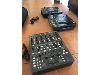 Pair of CDJ 1000 MK3 Turntables + Behringer DD4000 5 Channel Mixer (DJ Set)