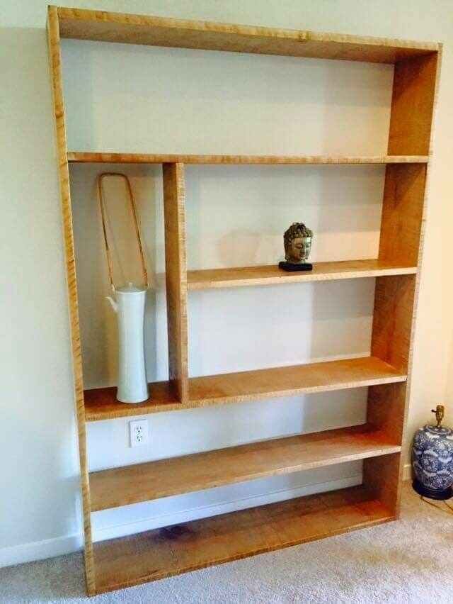 Tiger Maple Bookshelf