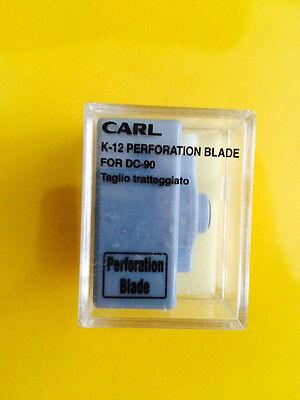 Carl K-12 Replacement Perforation Blade Cartridge Dc-90 Dc-95 Dc-100 Free Ship