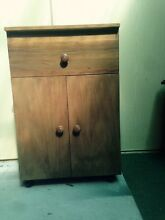 Wooden cupboard on castors Crafers Adelaide Hills Preview