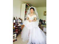 Wedding dress - self design, hand-made