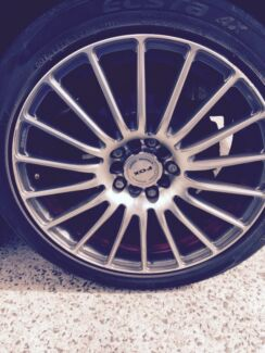 Holden Astra ah wheels and tyres 17 inch multi stud Campbelltown Campbelltown Area Preview