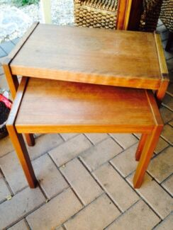 Nest of antique side tables Mirrabooka Stirling Area Preview