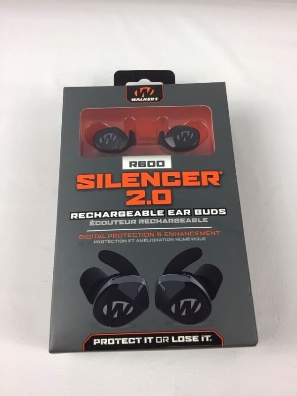 Walkers GWP-SLCRRC2 Silencer 2.0 Rechargeable 24 DB Black Ear Muffs R600