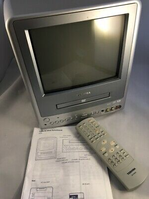 """Toshiba 9"""" COLOR TV/DVD Combo MD9DN1P AC/DC Dolby Digital Gaming Playstation"""