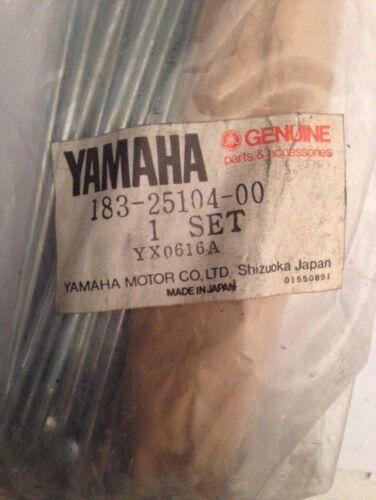 YAMAHA YAS1 AS1 1965 1967 1968 1969 183 Twin Cyl Wheel Spoke Set N.O.S Rare!