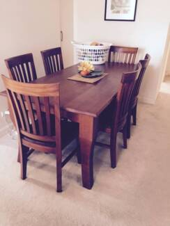 Dining table and 6 chairs Epping Ryde Area Preview