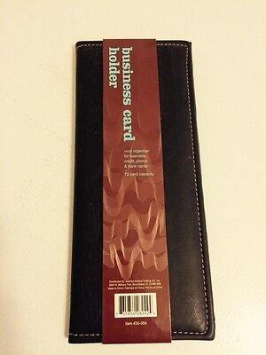 72 Business Card Holder Brown Vinyl