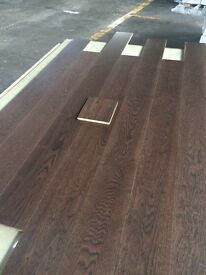 Walnut engineered wooden flooring