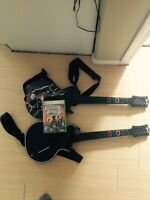 Xbox 360 guitar hero legends of rock + 2 guitars