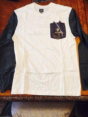 Loot Crate Level Up Walking Dead Michonne Pocket Raglan Long T Shirt XL LVL