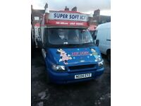 2004 T 350 FORD TRANSİT İCE CREAM VAN(4 lid fridge,double chiller,cctv power pack) 24.500 GBP