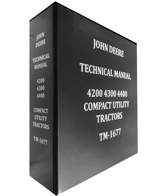 4400 John Deere Technical Service Shop Repair Dealer Manual Huge Book