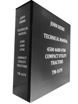 4700 John Deere Technical Service Shop Repair Dealer Manual Huge Book