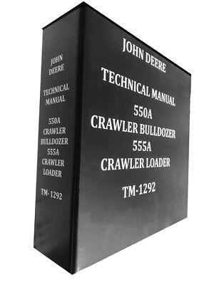 John Deere 550a Crawler Bulldozer Technical Service Repair Manual Huge Book