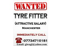 Wanted Tyre Fitter (Attractive Salary)– Manchester-M125DD