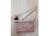 Next pink suede Handbag RRP £35