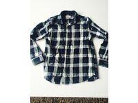 2 x boys Zara chequed shirts age 9-10