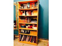 Wood flat pack style book shelves