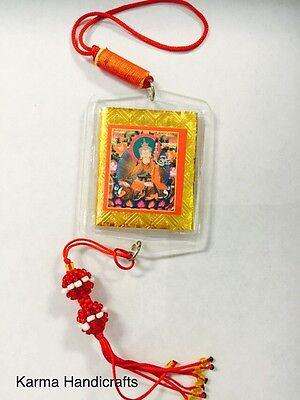 Tibetan Yoga Buddha Om Guru Padmabha Car Prayer Hanging Dharma Handmade Nepal