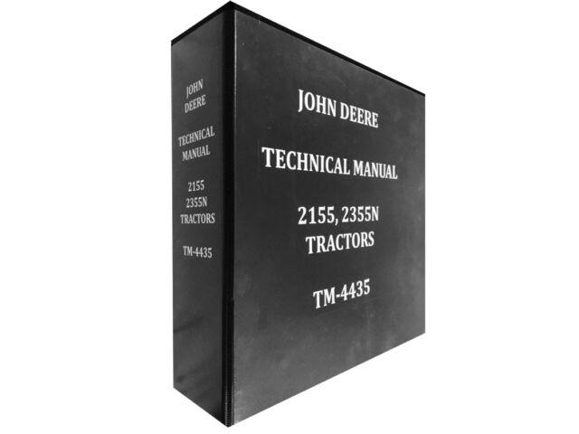 2155 John Deere Technical Service Shop Repair Manu